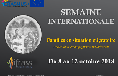 Du 8 au 12 octobre 2018: Semaine Internationale de l'IFRASS