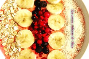 Smoothie bowl fruits rouges/banane