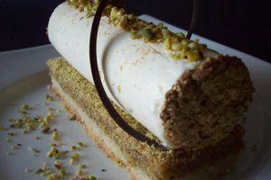 Dessert de fêtes : bûchette individuelle au chocolat blanc