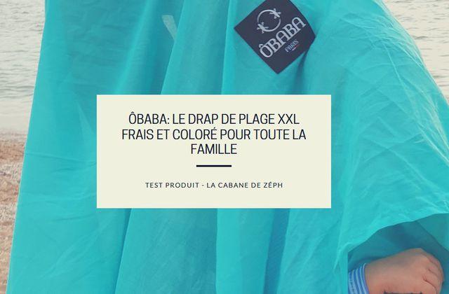 OBABA: le drap de plage XXL frais et coloré pour toute la famille