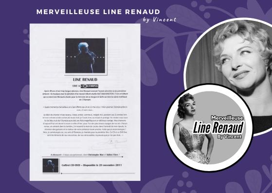 DOCUMENT: Dossier de Presse CD + DVD Line Renaud Live à l'Olympia (2011)