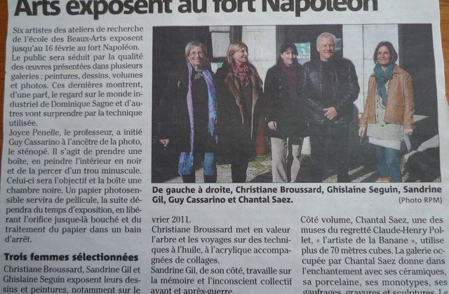 ARTICLE DE PRESSE EXPO FORT NAPOLEON