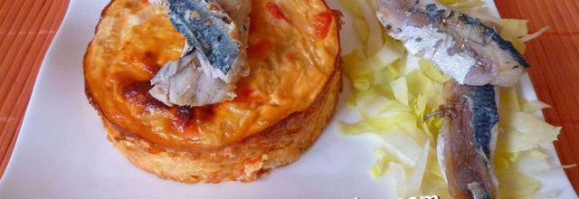 flans fenouil, poivron,tomate et sardines grillées - LIGHT -