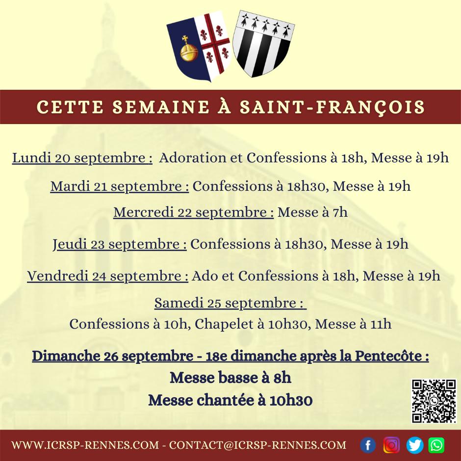 Cette semaine à Saint-François