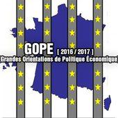 GOPE [ Grandes Orientations de Politique Économique ][ 2016 / 2017 ]