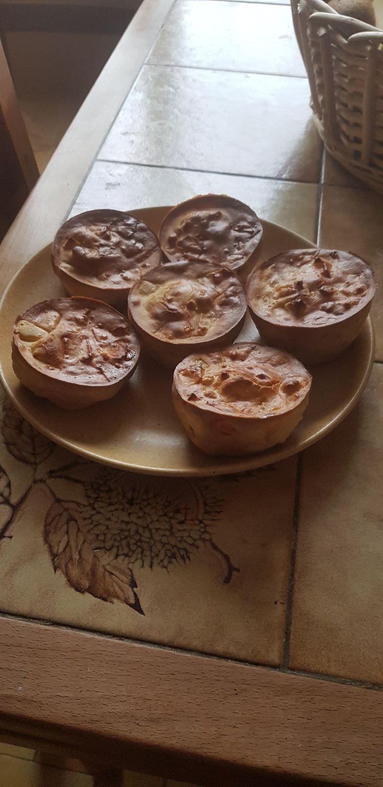 Hier j ai testé  la recette de caillou gâteau aux pommes sans gluten et sans lactose