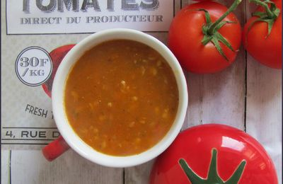 Soupe à la tomate et au blé