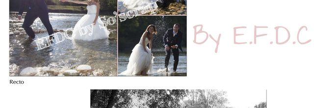 La carte de remerciements de mariage d'Audrey et Yannick ... thème shabby chic