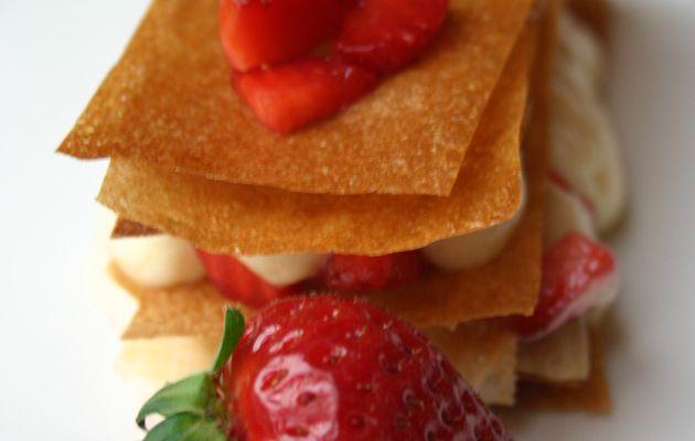 Recette n°92 : Millefeuille très léger aux fraises