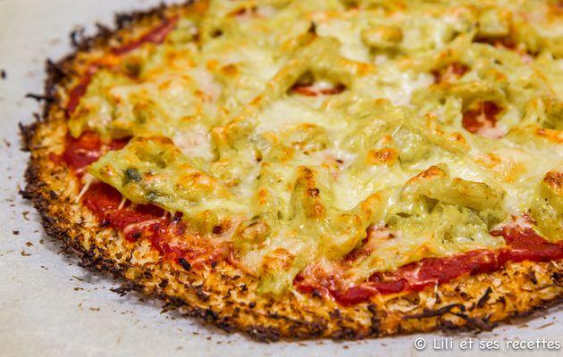 Pizza pâte chou fleur sans gluten