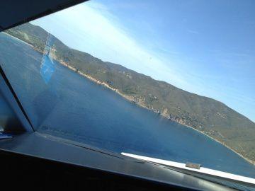 Photos de l'approche en Piste 34 sur Elba