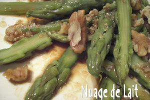 Salade d'Asperges Vertes à l'Huile de Noix et au Café