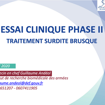 Essai clinique de phase II : traitement surdité brusque