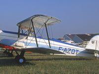 Le SAL Bulldog F-AZOD. Le Stampe SV-4 F-AZOT. Le Bucker 131 Jungmann F-AZPB.