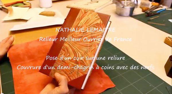 Nathalie Lemaitre, Relieur Meilleur Ouvrier de France à Paris