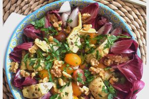 "Salade d'endives rouges "" carmine """