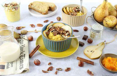 Porridge d'Automne {Butternut, Vanille et Noix Torréfiées}