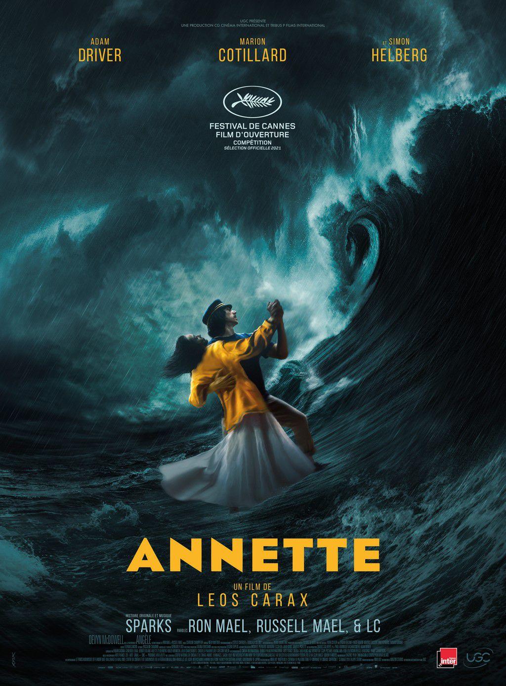 ANNETTE, avec Adam Driver et Marion Cotillard, en Ouverture de la Compétition de la Sélection officielle 2021 du Festival de Cannes