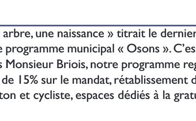 La tribune libre de l'opposition (Hénin-Beaumont c'est vous n°73, février 2021)