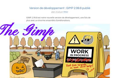 THE GIMP 2.99.8 : On s'achemine vers la version 3