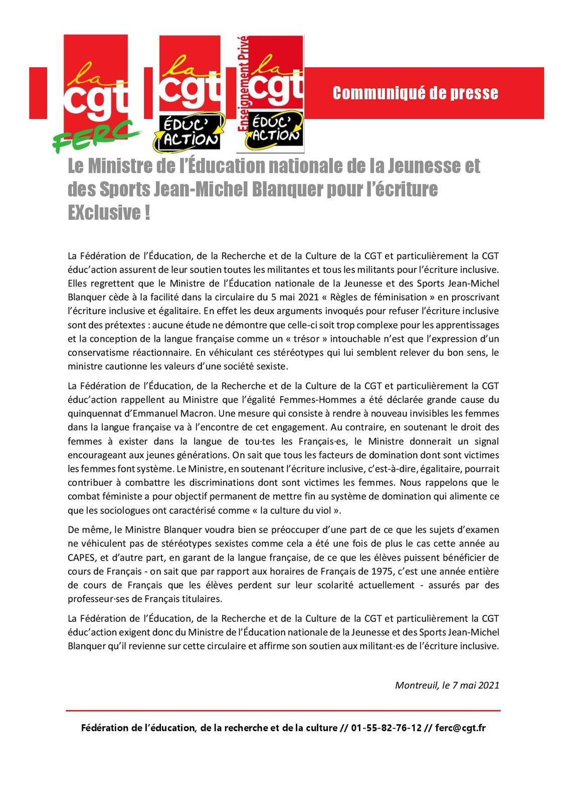 Le Ministre de l'Education nationale de la Jeunesse et des Sports Jean-Michel Blanquer pour l'écriture EXclusive