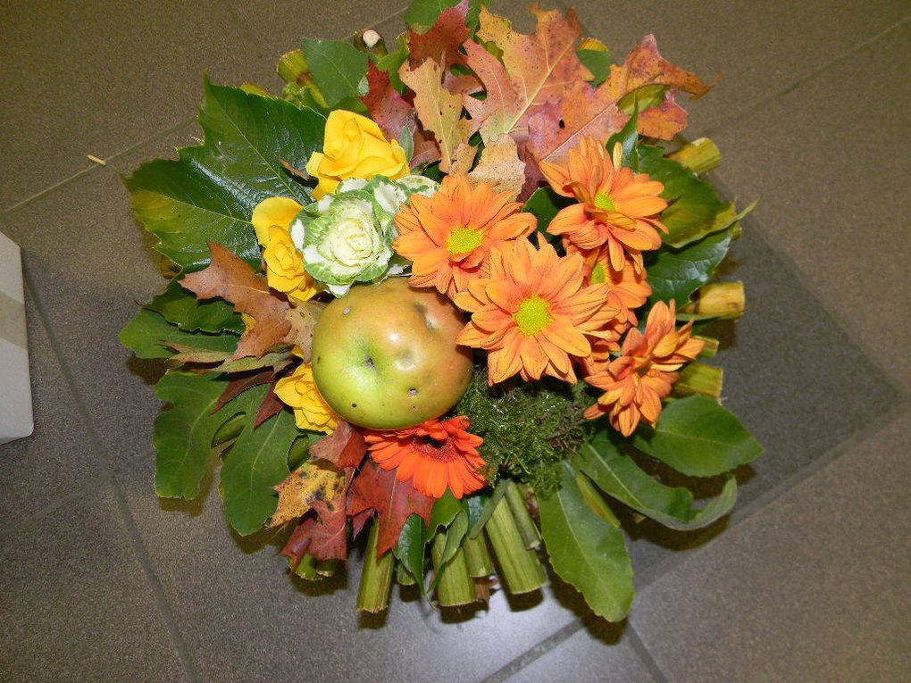 Bouquet rond aux couleurs de l'automne