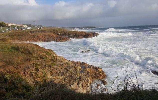 Grande marée du 29 Septembre sur le littoral du Château d'Olonne