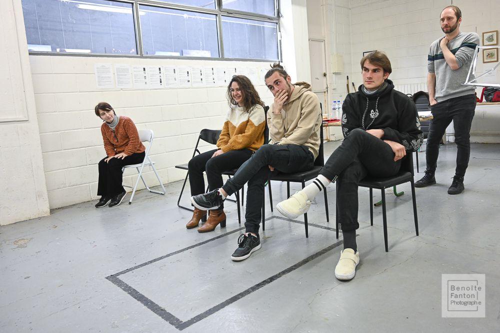 Répétition à LA FABRIQUE Made in Bagnolet (Photographies : Benoîte Fanton)