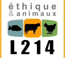 """Association L214 """"pour l'abolition de pratiques de tortures sur les animaux"""