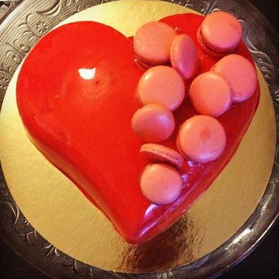 Coeur bombé fruits rouges citron