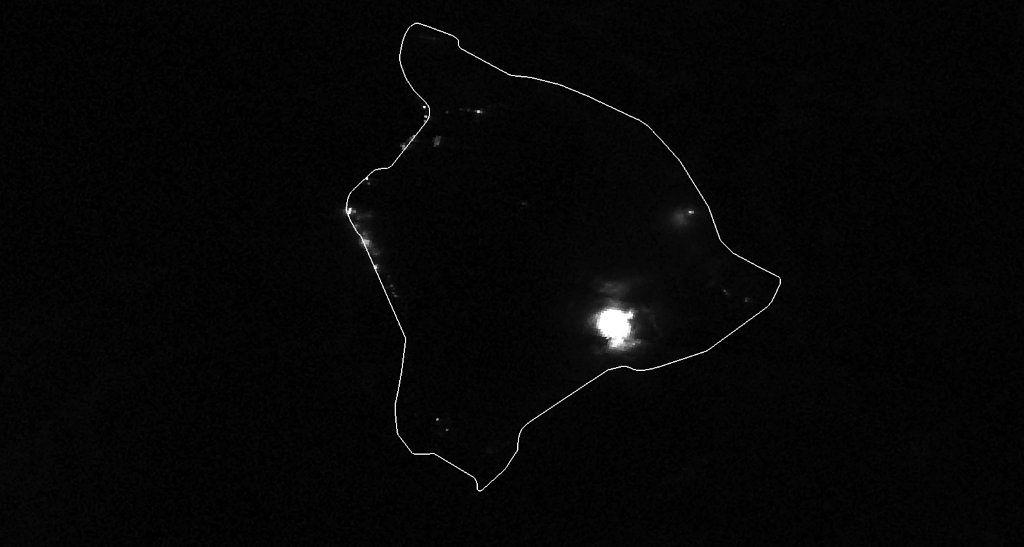 Kilauea - Halema'um'u eruption on 12/21/2020 around 1:42 a.m. LT - sat. SuomiNPP - JPSS via NOAA Nasa