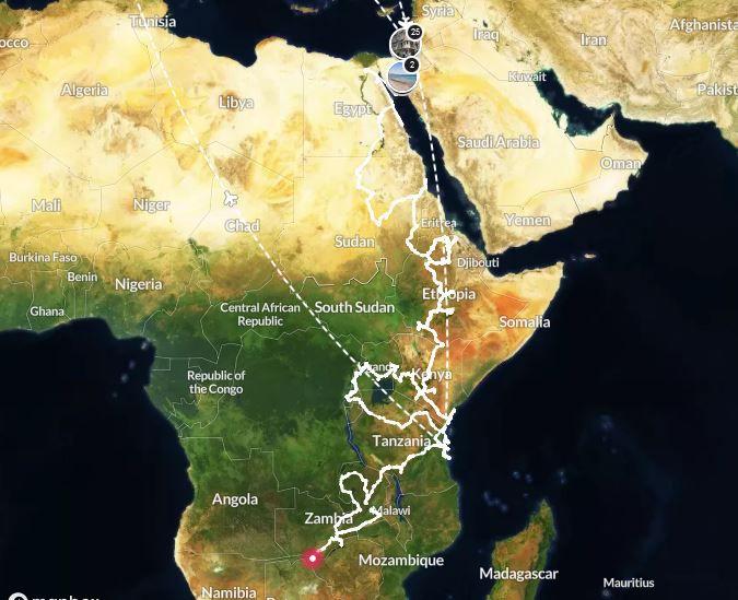 image mise à jour le 23/02/2021 après 630 jours de voyage - cliquez sur le lien au-dessus de l'image pour accéder à l'itinéaire en temps réel !