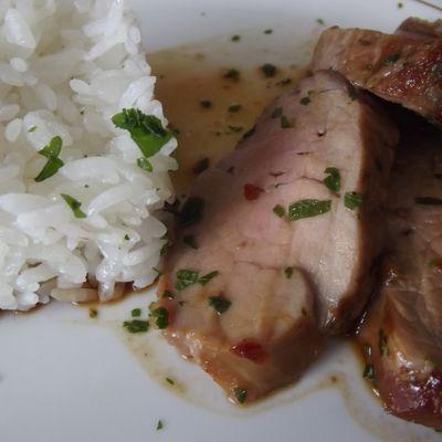 Filet mignon de porc laqué à la mode chinoise
