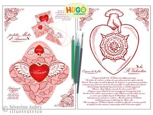 Conception et réalisation d'un cahier d'activités sur le thème de l'amour - Hugo l'escargot - 2011