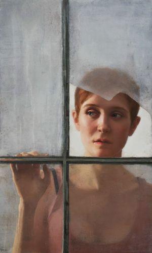 Devoir du lundi : femme inquiète à sa fenêtre