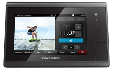 Volvo Penta unveils control and display system for wakesurfing and water sports