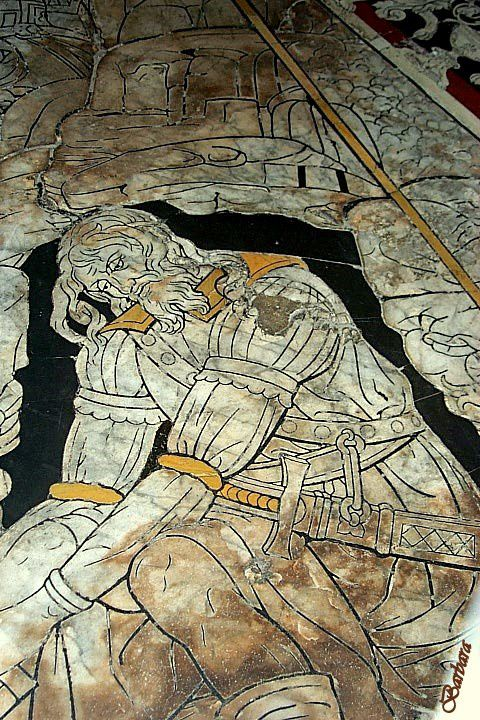 SIENA - Immagini del pavimento del Duomo