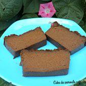 Cake de semoule café chocolat - Chez Vanda