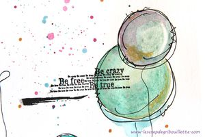 Cartes & Page AJ_Watercolor doodles_Mixed Media en toute amitié_2