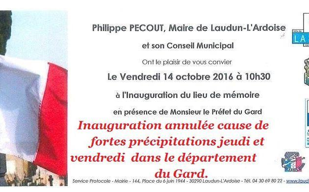 la mairie de Laudun L' Ardoise a annulé la cérémonie d'inauguration ce vendredi