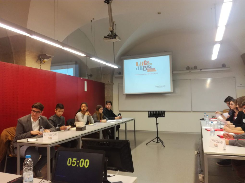 Images from Martí Dot students competing in the Debate League