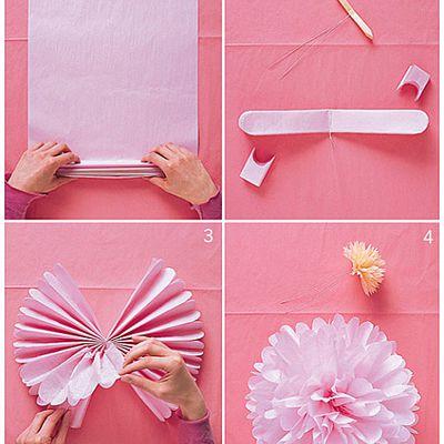 Wedding 1 : DIY pompons en papier de soie