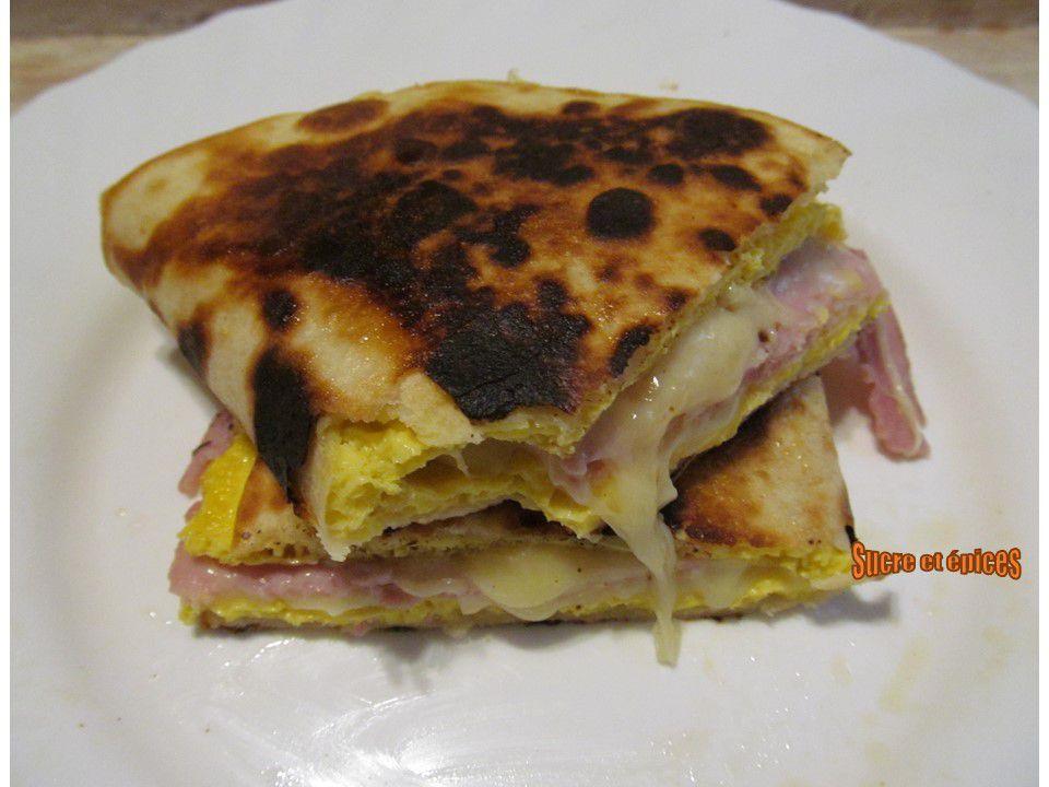 Tortillas au jambon et au fromage