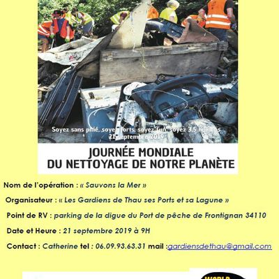 World Cleanup Day à Frontignan
