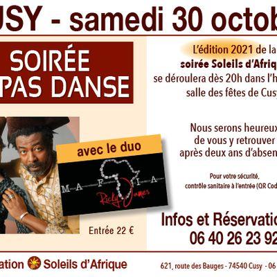 SOIREE REPAS CONCERT SOLEILS D'AFRIQUE