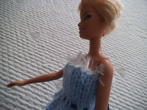 DIY robe barbie bleue