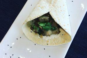 tortilla d'aubergines blanches confites au four