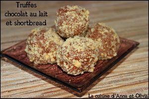 Truffes chocolat au lait et biscuits shortbread (recette de Noël)