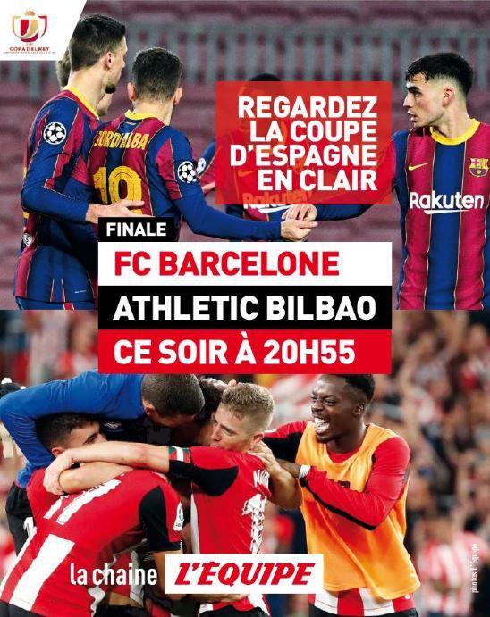 Barcelone / Athletic Bilbao : Sur quelle chaîne suivre en clair la finale de la Coupe d'Espagne samedi ?