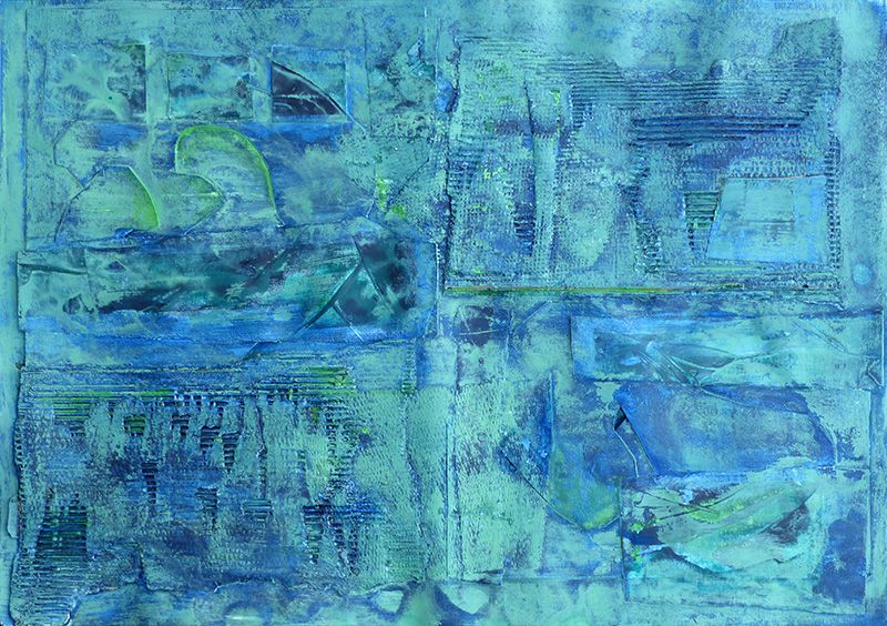 Peinture et collage de Christiane Benoît